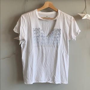 White Los Angeles Cut Out Shirt